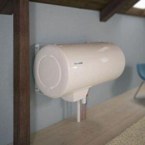 Installation ballon d'eau chaude électrique horizontal