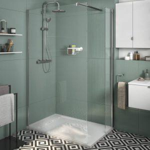 Installation de paroi de douche