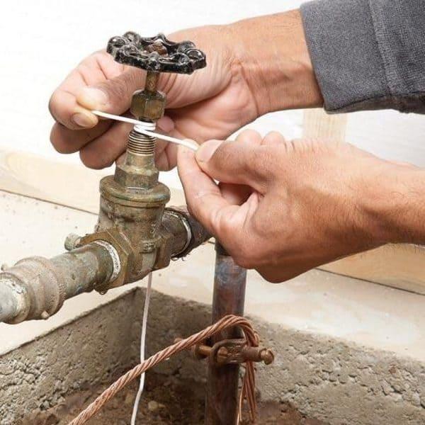 Réparation de fuite sur vanne principale